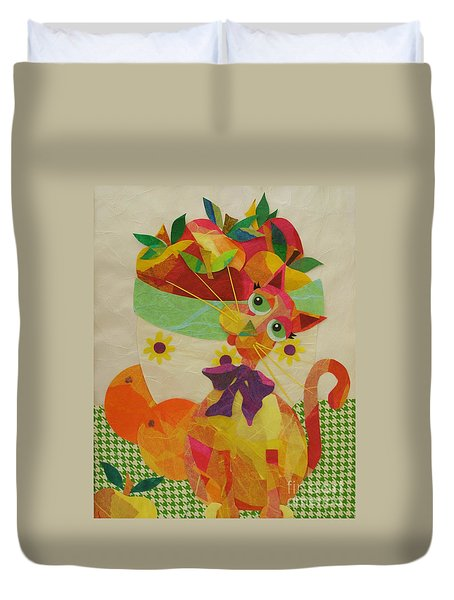 Apples And Jackie Duvet Cover