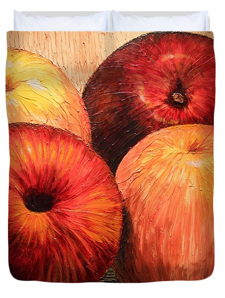 Apples And Oranges Duvet Cover