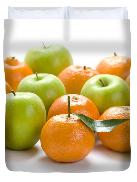 Duvet Cover featuring the photograph Apples And Oranges by Lee Avison