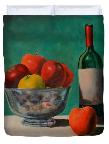 Apples And Wine Duvet Cover