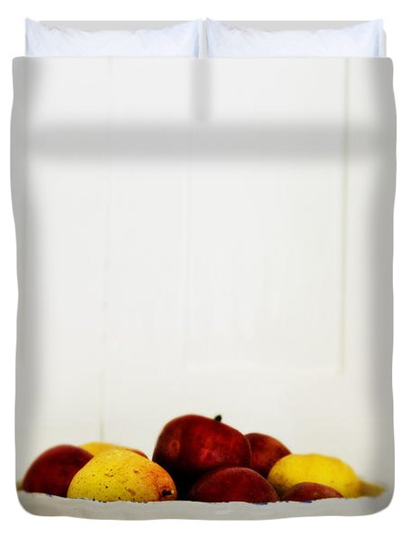 Apples Duvet Cover by Margie Hurwich