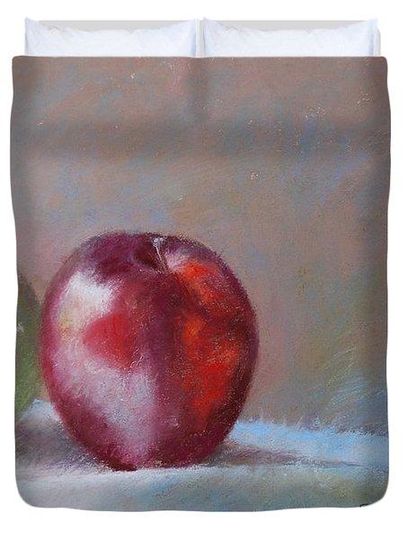 Apples Duvet Cover by Nancy Stutes