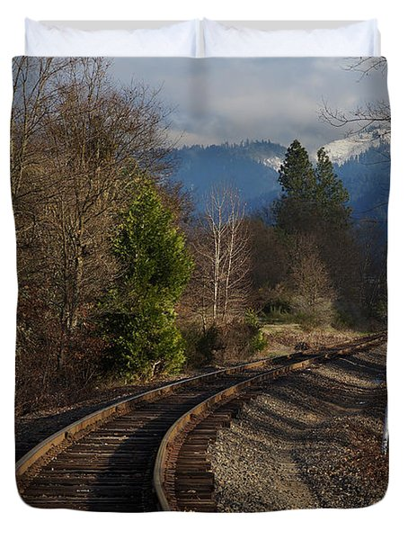 Approaching Grants Pass 1 Duvet Cover by Mick Anderson