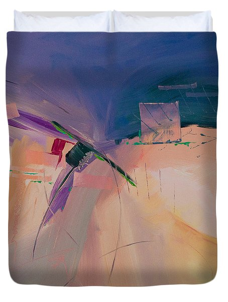 Approaching Storm Duvet Cover by Paulette B Wright
