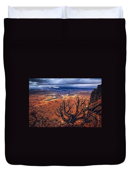 Duvet Cover featuring the photograph Approaching Storm by Priscilla Burgers