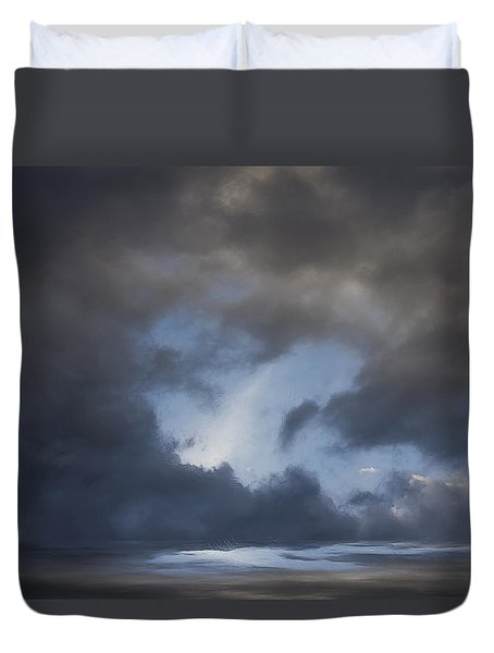 Approaching Storm Duvet Cover by Ron Jones