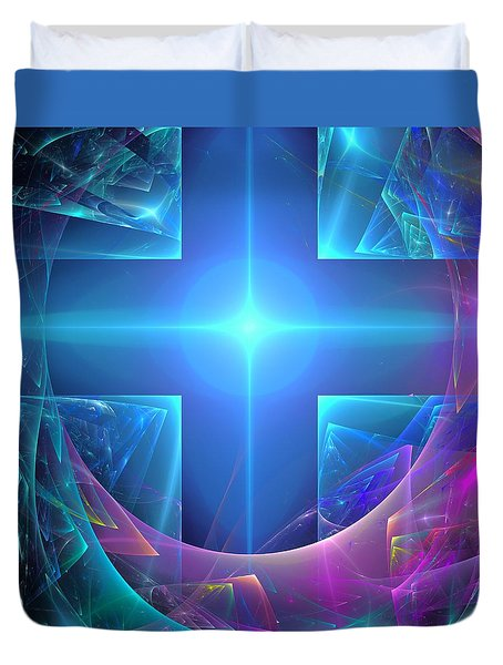 Approaching The Portal Duvet Cover by Svetlana Nikolova