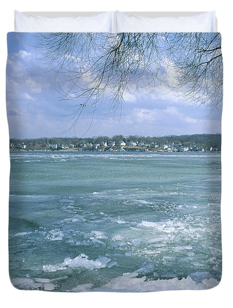 April Thaw - Lake Geneva Wisconsin Duvet Cover