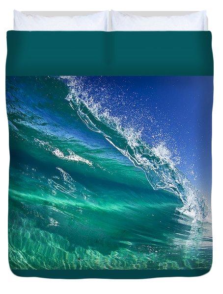 Aqua Blade Duvet Cover by Sean Davey