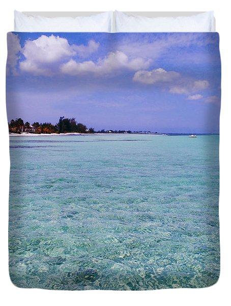 Aqua Blue Duvet Cover