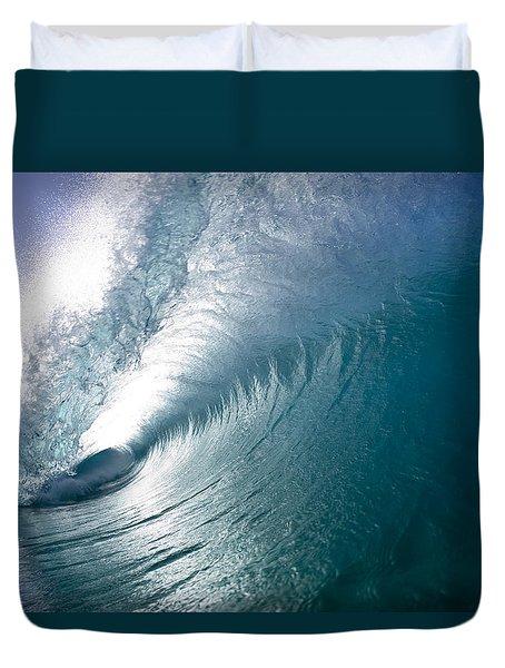 Aqua Curl Duvet Cover