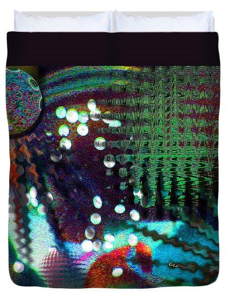 Aqua Dish Duvet Cover
