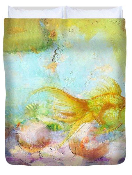 Aqua Goldilocks Duvet Cover
