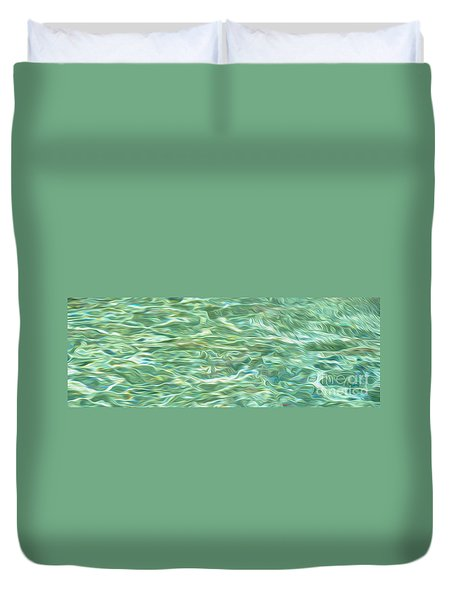 Aqua Green Water Art 2 Duvet Cover by Kaye Menner