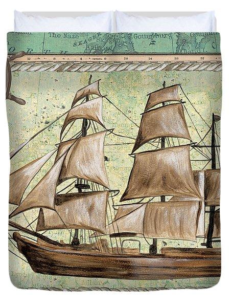 Aqua Maritime 1 Duvet Cover