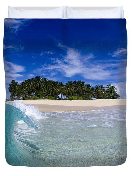 Aqua Peel Duvet Cover
