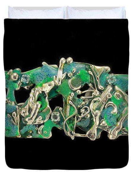 Aqua Reef Duvet Cover by Laura Wilson