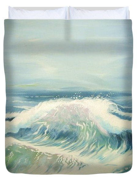 Aqua Sea Scape Duvet Cover