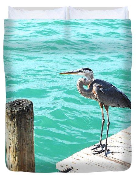 Aqua Serenity Duvet Cover