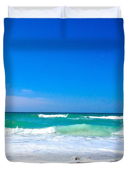 Aqua Surf Duvet Cover