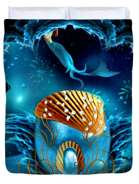 Aquarium - Fantasy Art By Giada Rossi Duvet Cover