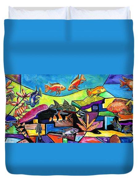 Aquascape #1 Duvet Cover