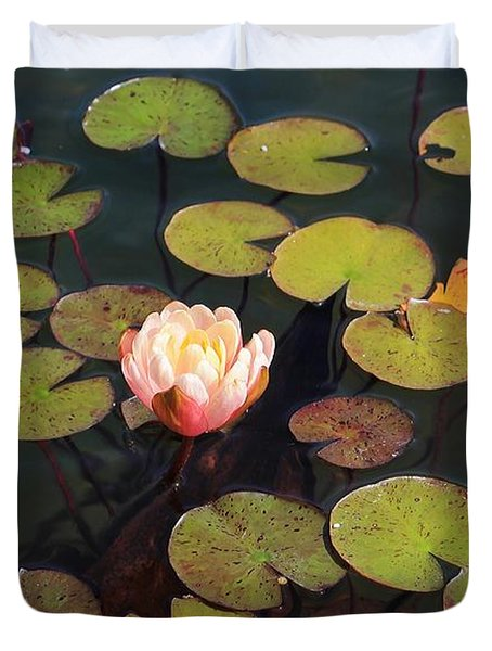 Aquatic Garden With Water Lily Duvet Cover