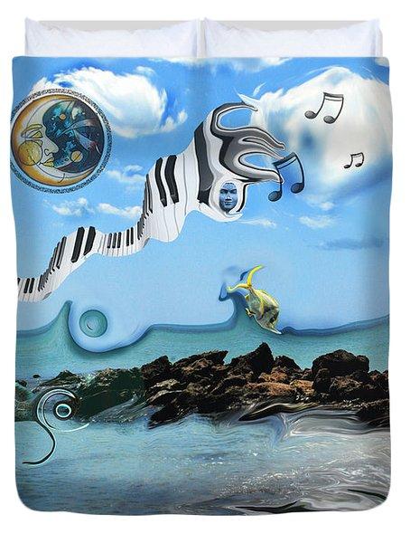 Duvet Cover featuring the photograph Aquatic Melodic by Amanda Vouglas
