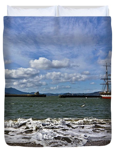 Duvet Cover featuring the photograph Aquatic Park by Kate Brown