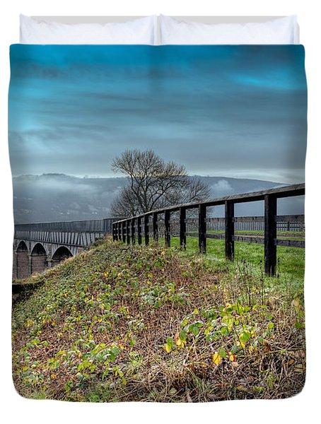 Aqueduct At Pontcysyllte Duvet Cover by Adrian Evans