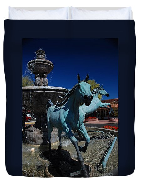 Arabian Horse Sculpture Duvet Cover