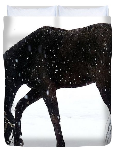 Duvet Cover featuring the photograph Arabian Snow by Julia Hassett