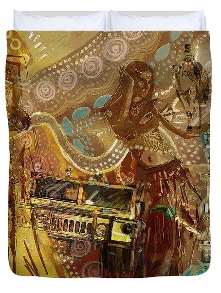 Arabian Symbolism Duvet Cover