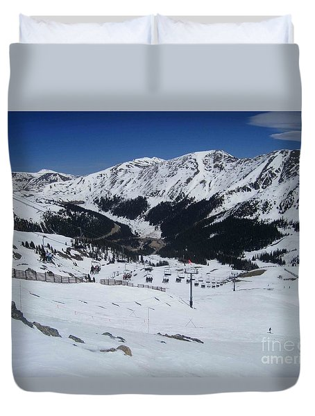 Arapahoe Basin June 2  Duvet Cover