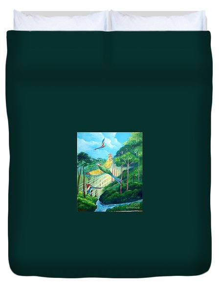 Aras On The Forest Duvet Cover
