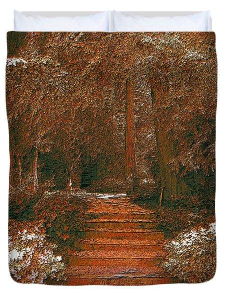Arbor Steps Duvet Cover by Tim Allen