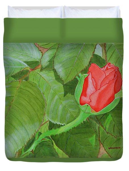 Arboretum Rose Duvet Cover by Donna  Manaraze