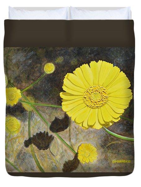 Arboretum Wild Flower  Duvet Cover by Donna  Manaraze