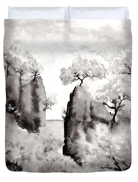 Arbres Separes Duvet Cover