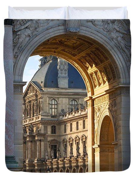 Duvet Cover featuring the photograph Arc De Triomphe Du Carrousel by Brian Jannsen