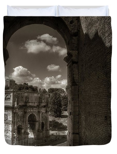 Arch Of Constantine From The Colosseum Duvet Cover