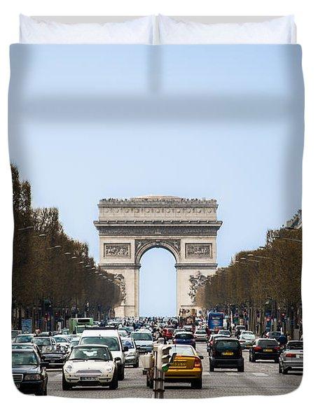 Arch Of Triumph In Paris Duvet Cover