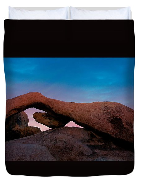 Arch Rock Evening Duvet Cover by Stephen Stookey