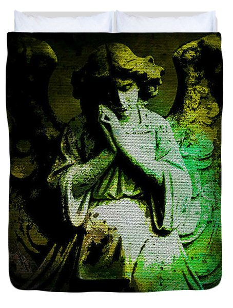 Archangel Uriel Duvet Cover by Absinthe Art By Michelle LeAnn Scott