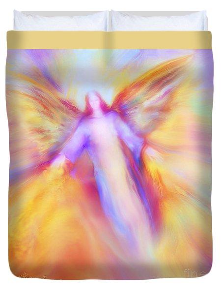 Archangel Uriel In Flight Duvet Cover