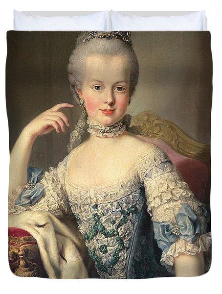 Archduchess Marie Antoinette Habsburg-lotharingen Duvet Cover by Martin II Mytens