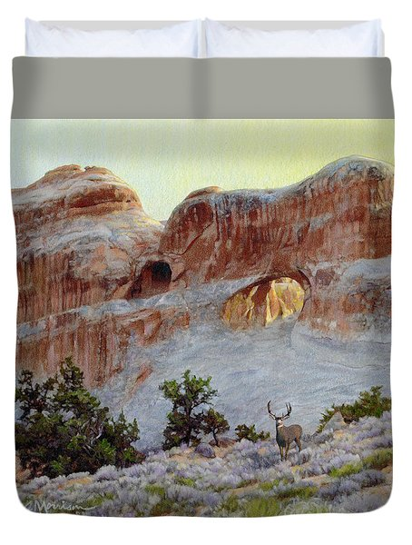 Arches Mulie Duvet Cover by Bruce Morrison