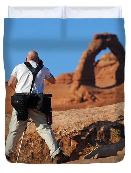 Duvet Cover featuring the photograph Arches Np 27 by Jeff Brunton