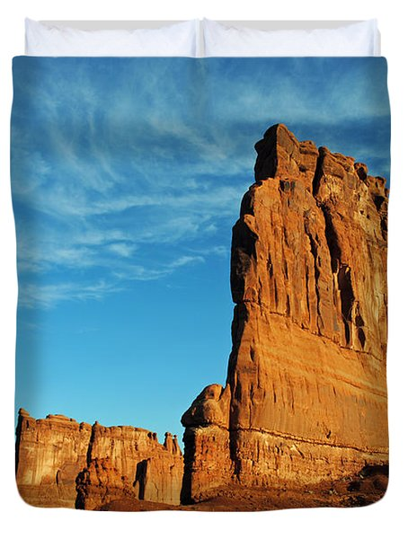 Duvet Cover featuring the photograph Arches National Park 47 by Jeff Brunton