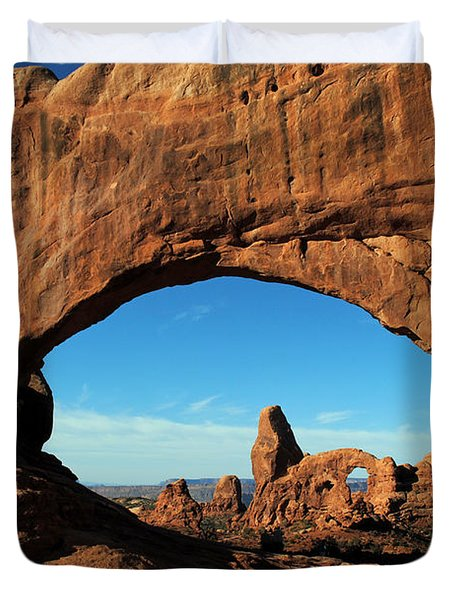 Duvet Cover featuring the photograph Arches National Park 61 by Jeff Brunton